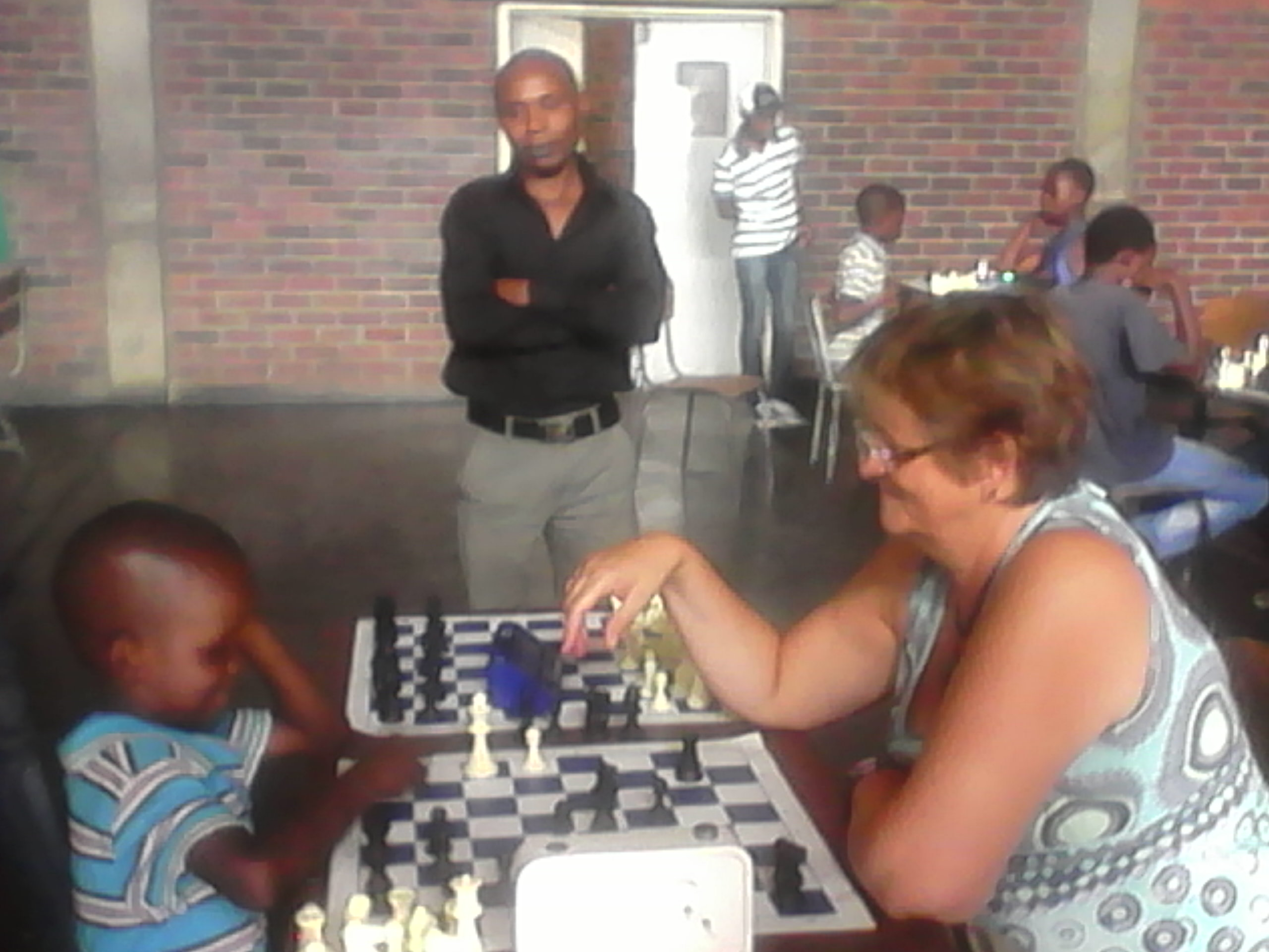 Mrs Antje Haeusler from The German Embassy in Zimbabwe visits GNKCA on Saturday, December 13th, 2014